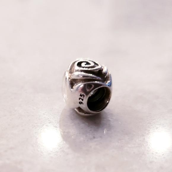 925 Sterling Silver Rose Bud Charm Pendant